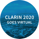 CLARIN 2020 Goes Virtual - Logo