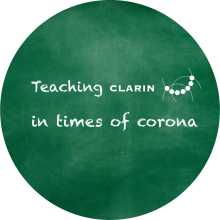 Call for Submissions - 'Teaching CLARIN in Times of Corona' - Logo